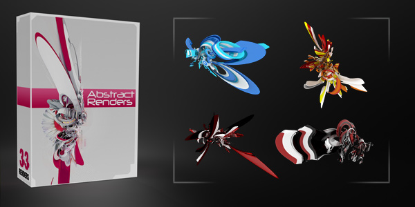 33 [DELUXE] Abstract 3D Renders Pack. Abstract-300