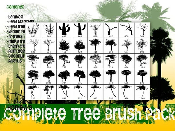 24 Stylish and Natural Photoshop Brush Collections   Media Militia