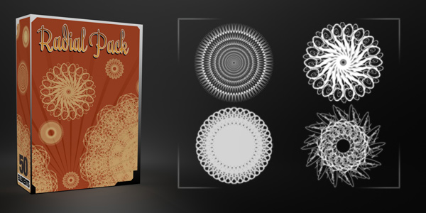 Radial Pack – 50 Elements (Vectors & Brushes)