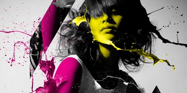 design a paint splashing effect into your image media militia