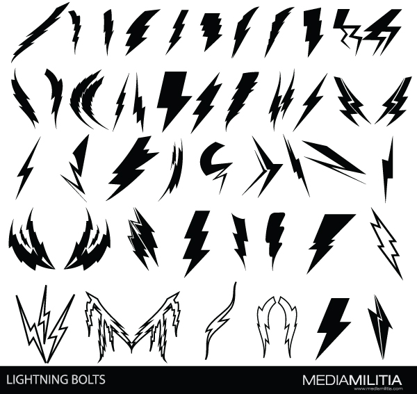 Lightning Bolts 44 Free Images And Brushes Media Militia
