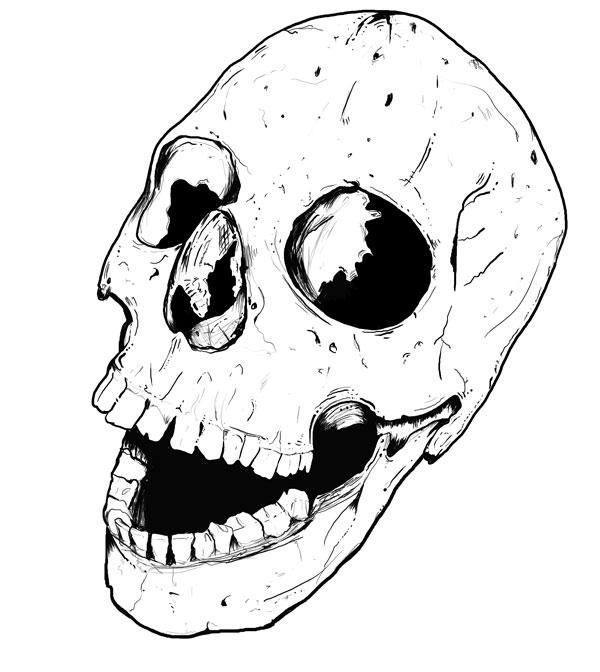 Hand Drawn Skull 2