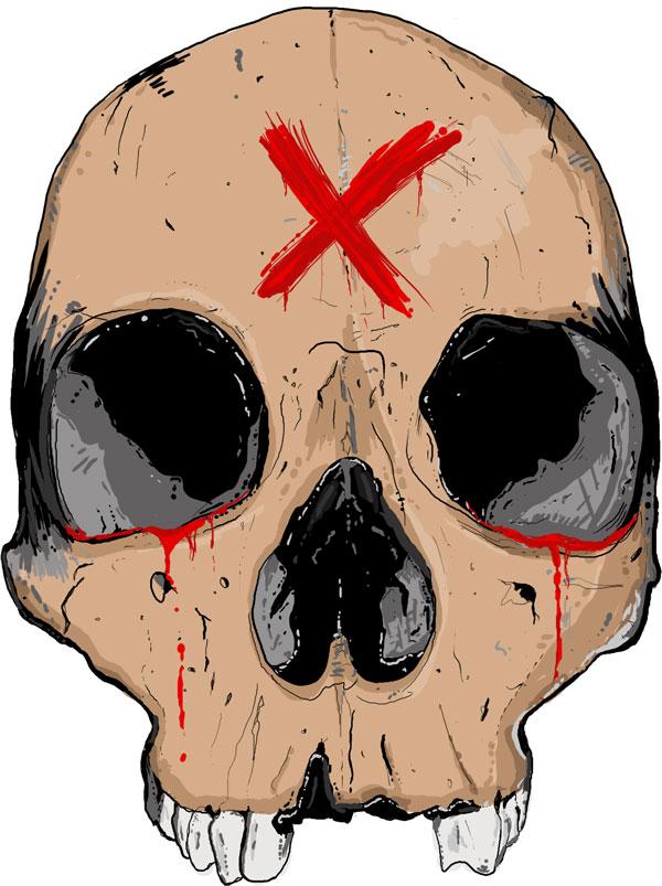 Hand Drawn Skull 4
