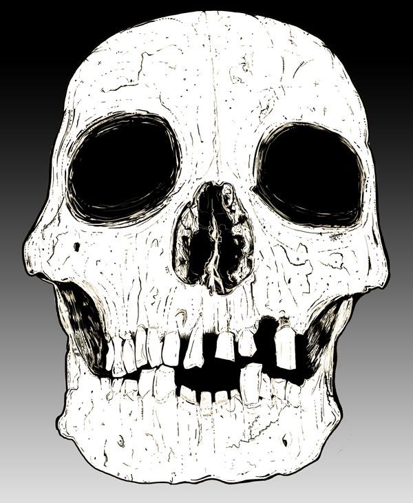 Hand Drawn Skull 9