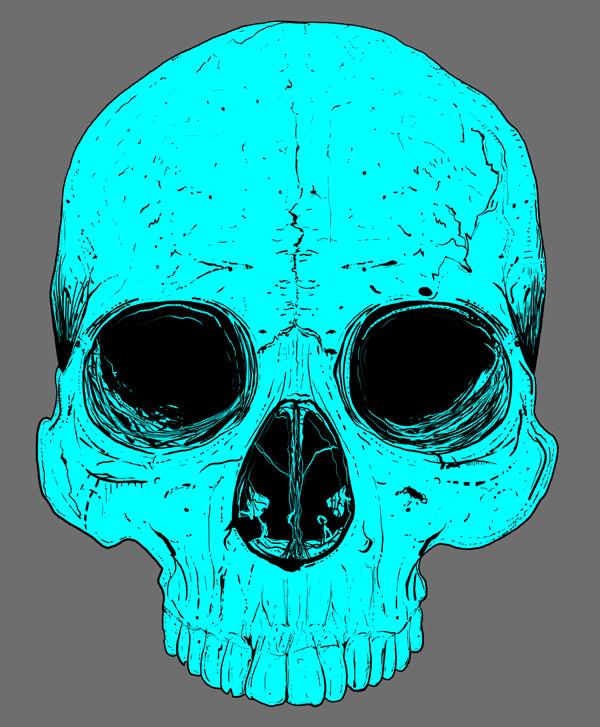 Hand Drawn Skull 10
