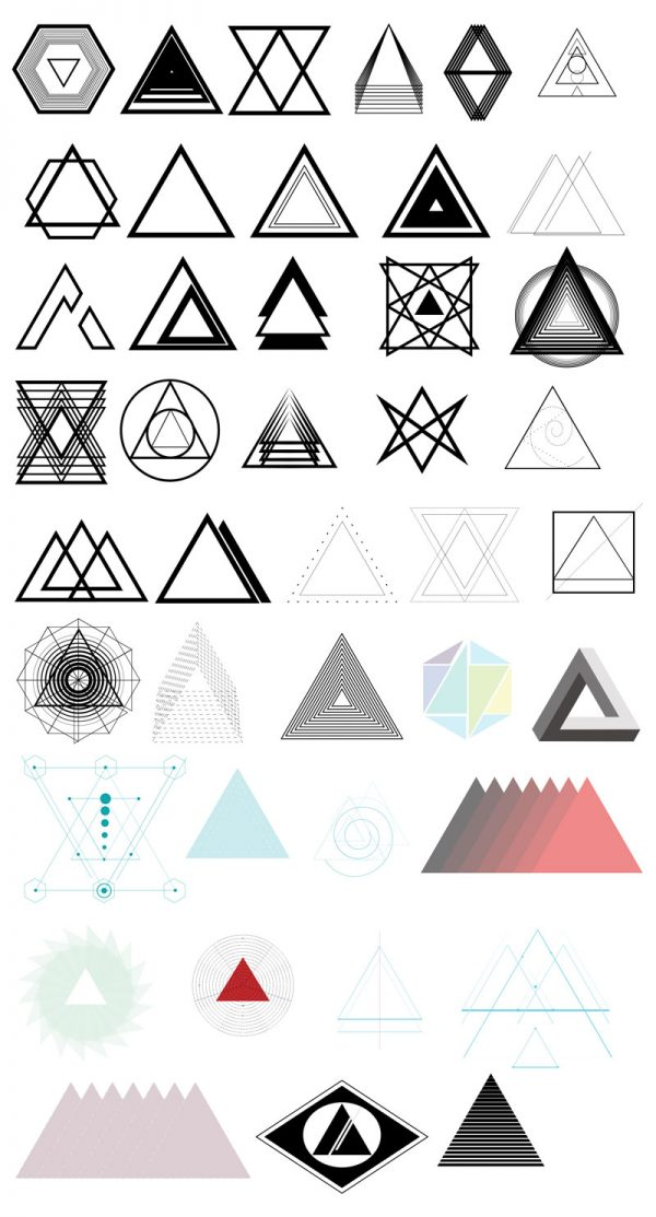 triangle shapes 42 free vectors media militia