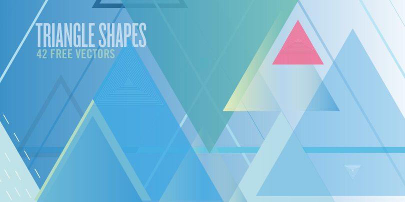 triangle shapes 42 free vectors media militia