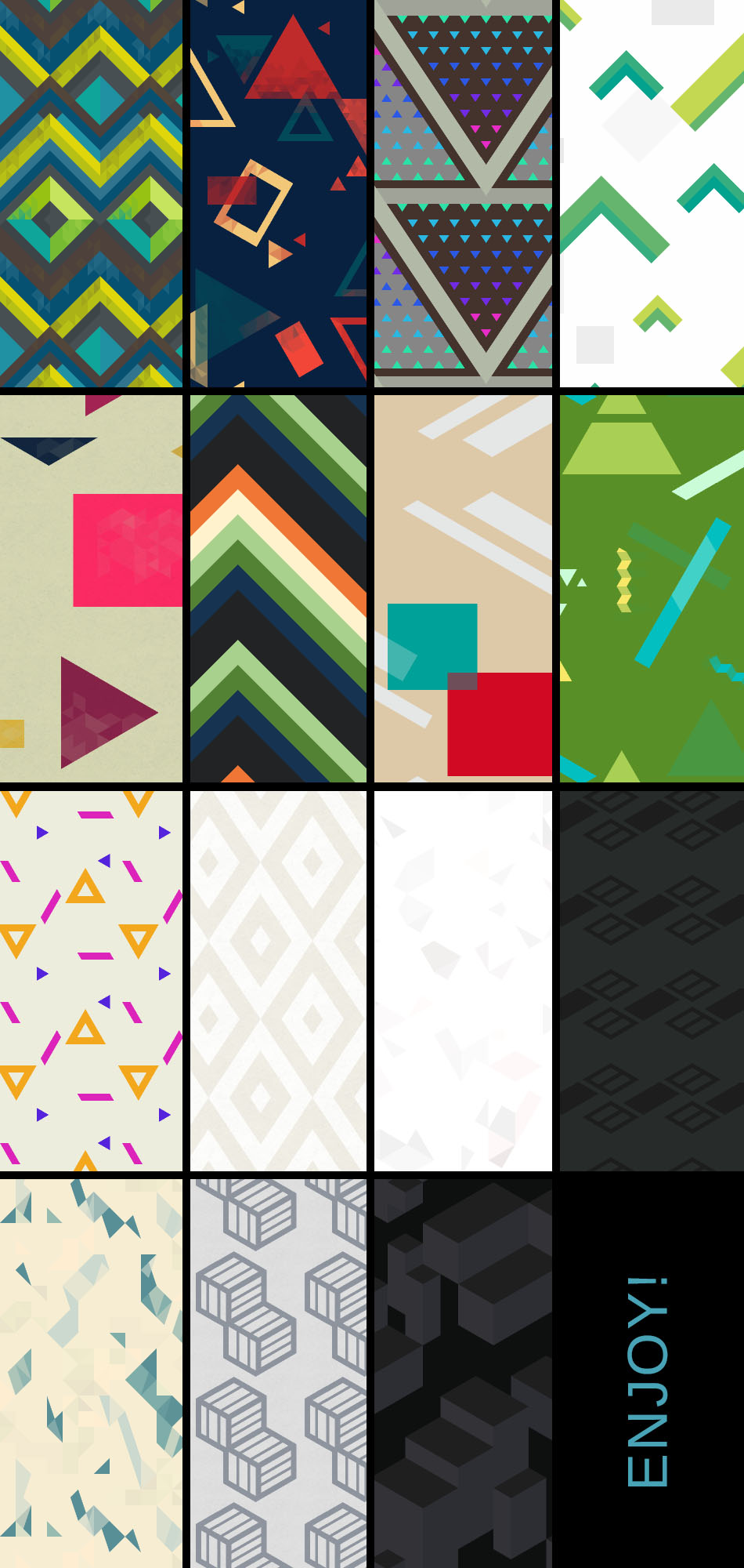 Free abstract geometric tiling textile patterns